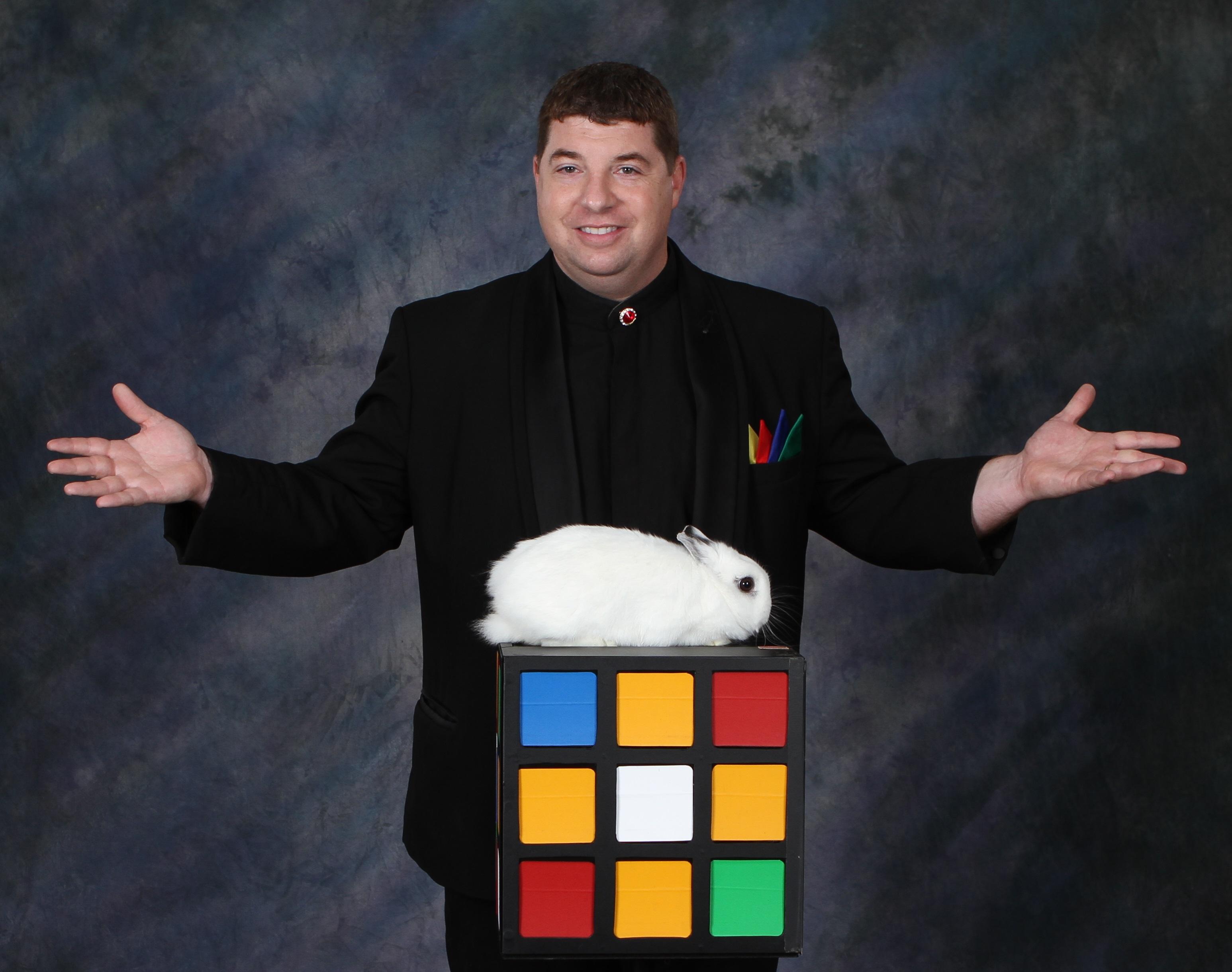joseph young christian illusionist with rabbit magic trick
