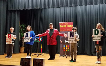 school library magic show
